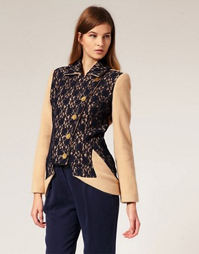 Image 1 ofLiLee For ASOS Wool And Lace Jacket