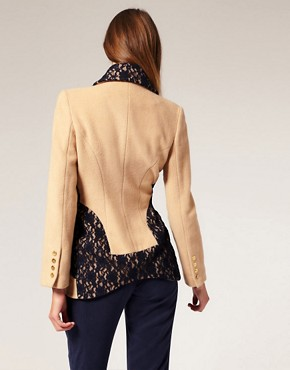 Image 2 ofLiLee For ASOS Wool And Lace Jacket