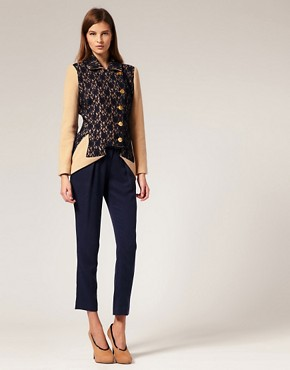 Image 4 ofLiLee For ASOS Wool And Lace Jacket