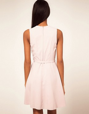 Image 2 ofASOS Fit and Flare Dress With Belt