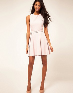Image 4 ofASOS Fit and Flare Dress With Belt