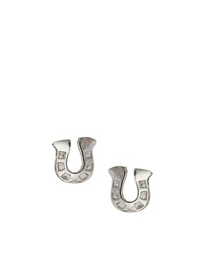 Image 1 of Dower & Hall Sterling Silver Horseshoe Studs