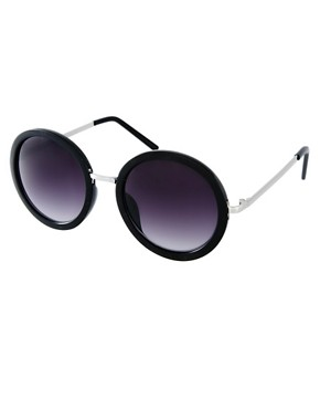 Image 1 of ASOS Round Sunglasses With Metal Bridge Detail