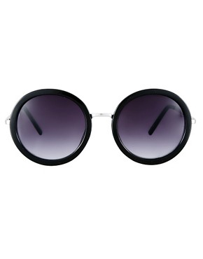 Image 2 of ASOS Round Sunglasses With Metal Bridge Detail