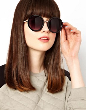 Image 3 of ASOS Round Sunglasses With Metal Bridge Detail