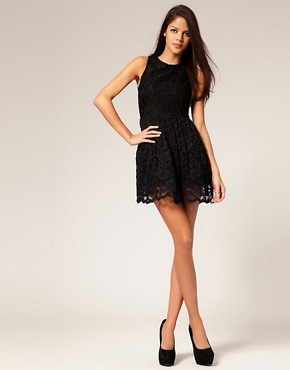 Image 4 ofASOS Lace Dress with Peter Pan Collar