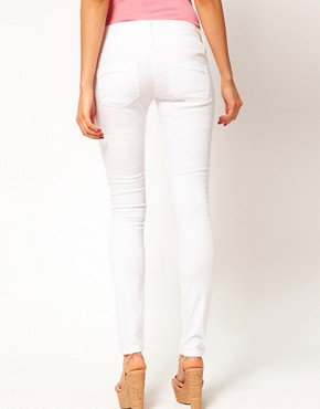 Image 2 ofASOS Super Sexy Skinny Jeans in White