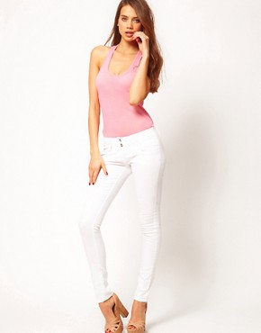 Image 4 ofASOS Super Sexy Skinny Jeans in White