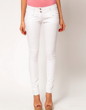 Image 1 ofASOS Super Sexy Skinny Jeans in White
