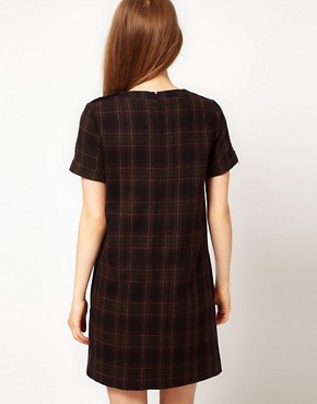 Image 2 ofFred Perry Checked Shift Dress