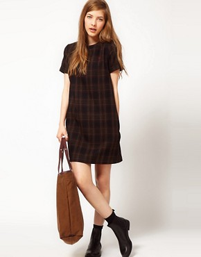 Image 4 ofFred Perry Checked Shift Dress