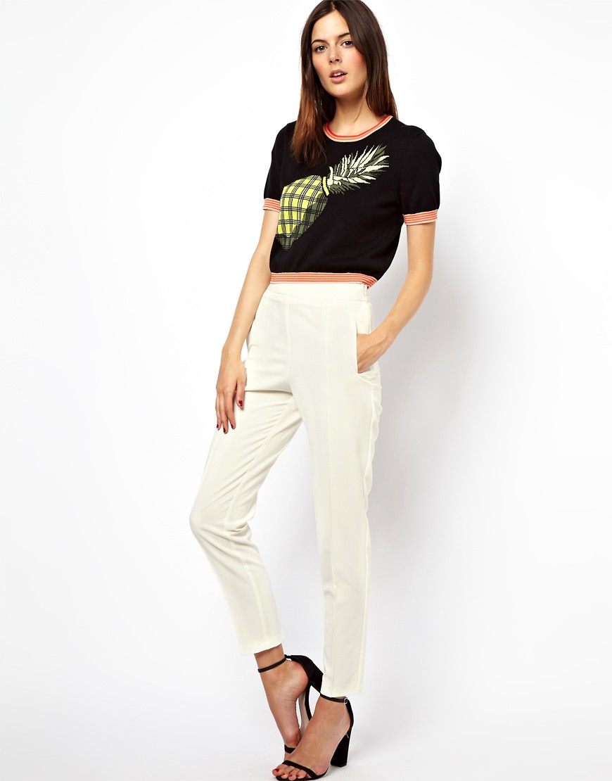 Image 1 of ASOS Trousers with High Waist