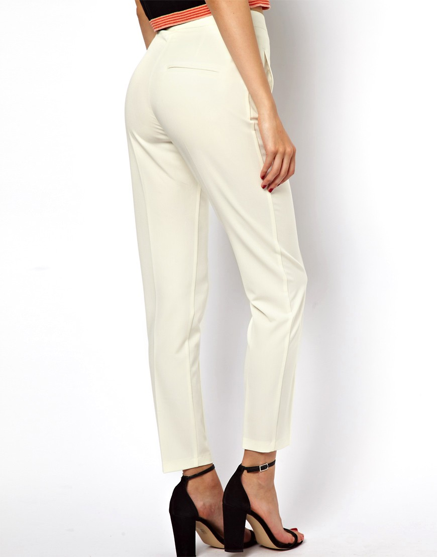 Image 2 of ASOS Trousers with High Waist