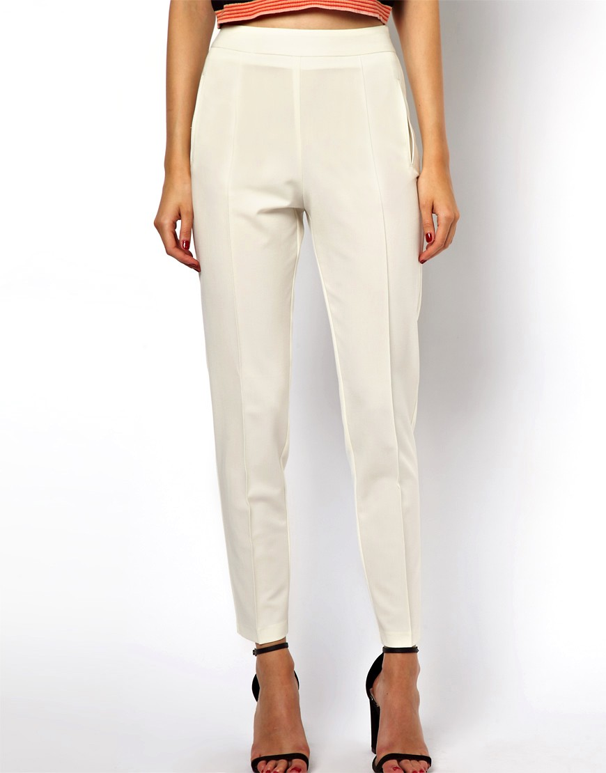 Image 4 of ASOS Trousers with High Waist