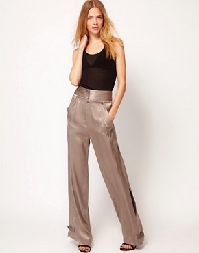 Image 1 ofKore by Sophia Kokosalaki Wide Silk Trouser