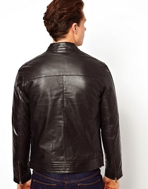 Image 2 ofASOS Leather Biker Jacket