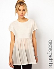 ASOS PETITE T-Shirt with Pocket and Woven Hem