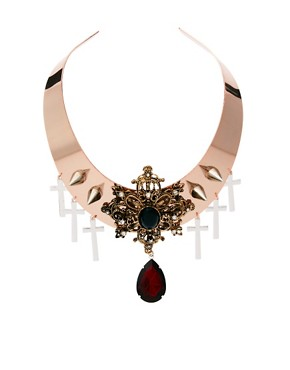 Image 1 ofASOS Premium Baroque Jewel Torque Necklace