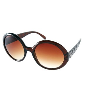 Image 1 ofRiver Island Quilted Arms Sunglasses