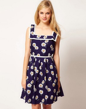 Image 1 ofTrollied Dolly Vintage Daisy Dress
