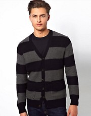 French Connection Cardigan Textured Stripe
