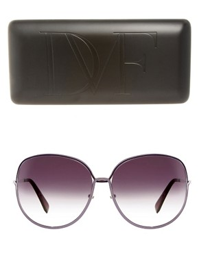 Image 2 ofDVF Detailed Arm Square Sunglasses
