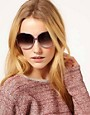 Image 3 ofDVF Detailed Arm Square Sunglasses