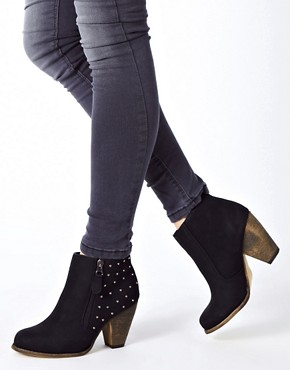 Image 3 ofNew Look Calm Studded Western Heeled Ankle Boots