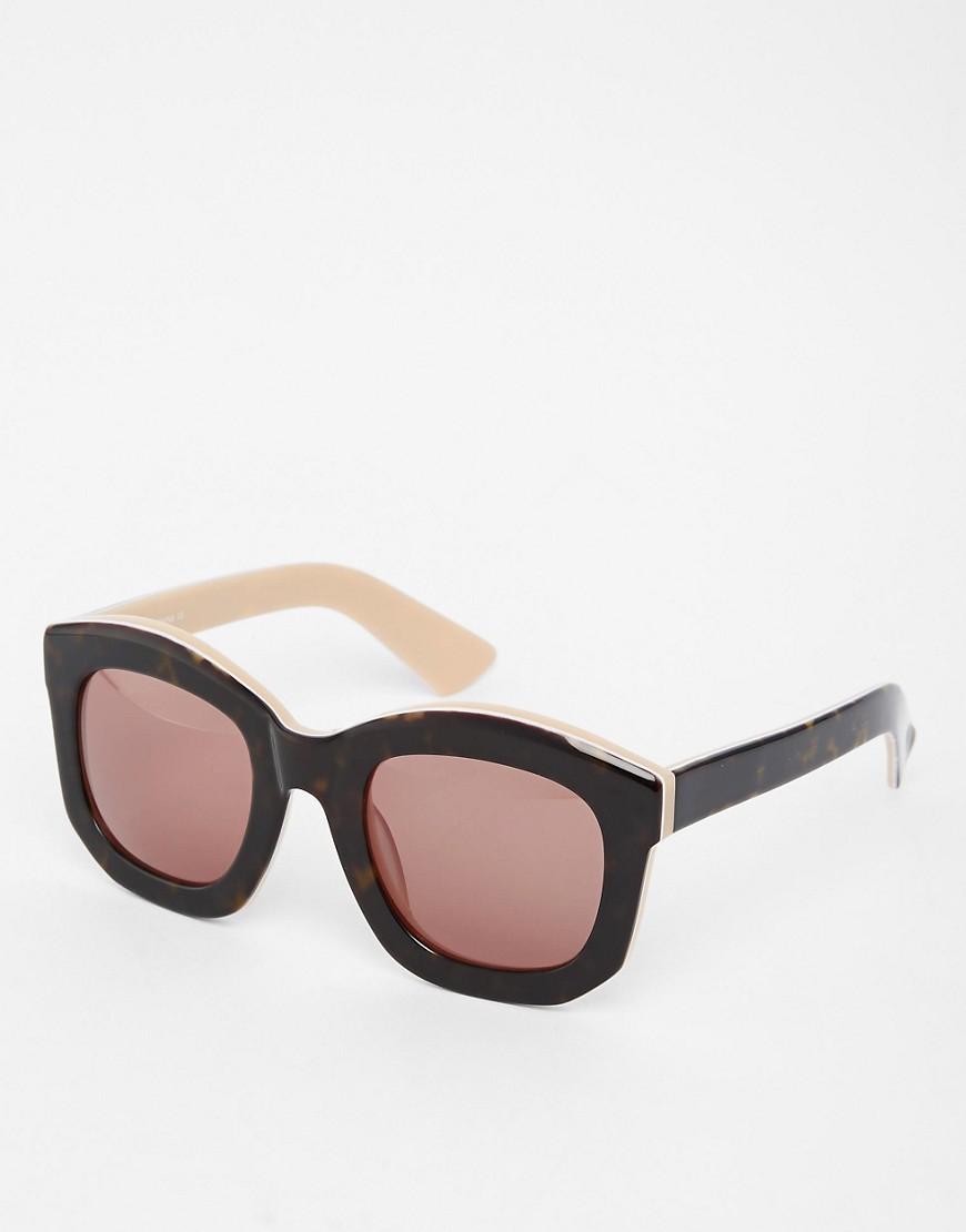 ASOS Handmade Acetate Chunky Retro Sunglasses - Tortoise brown