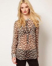Equipment Eva Leopard Print Silk Shirt