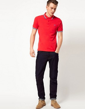 Image 4 ofFred Perry Slim Polo with Fit Twin Tip