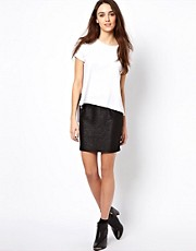 Vero Moda Metallic Mini Skirt