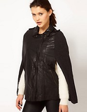 Muubaa Parma Cape Leather Jacket