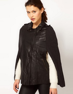 Image 1 ofMuubaa Parma Cape Leather Jacket