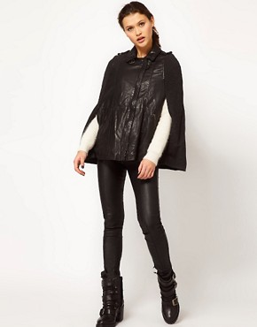Image 4 ofMuubaa Parma Cape Leather Jacket
