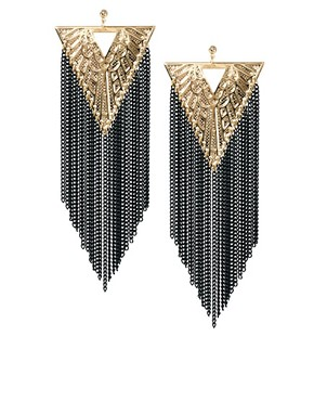 Image 1 ofLimited Edition Triangle Chain Earrings