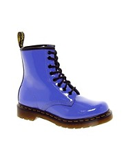Dr Martens - 1460 Lamper - Stivaletti blu polvere in vernice
