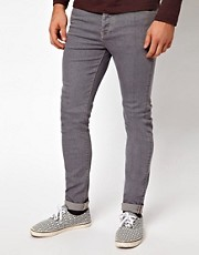 ASOS - Jeans skinny di colore grigio