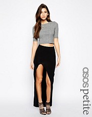 ASOS PETITE Maxi Skirt with Split