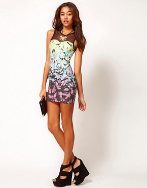 Image 4 ofMotel Tropical Butterfly Dress