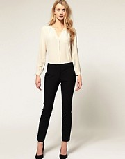 ASOS Slim Trousers With Jet Pocket