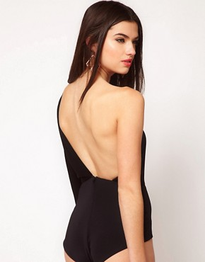 Image 1 ofAqua Loren One Shoulder Backless Bodysuit