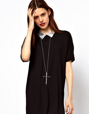 Image 3 ofASOS Oversized Cross Pendant Necklace