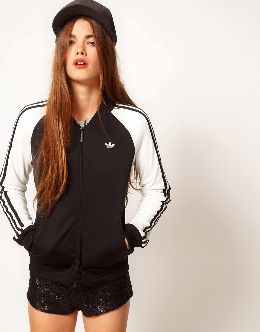 Image 1 ofAdidas Bomber Jacket With Contrast Sleeves
