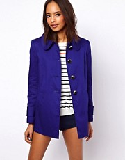 ASOS A-Line Button Coat