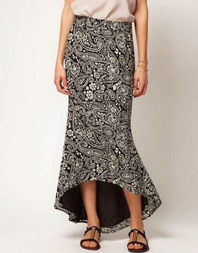 Image 4 ofWinter Kate Bias Cut Silk Skirt in Paisley Printed Silk