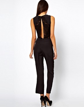 Image 2 ofASOS Jumpsuit with Lace Inserts