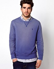 Polo Ralph Lauren Crew Neck Sweat In Blue Crew Neck