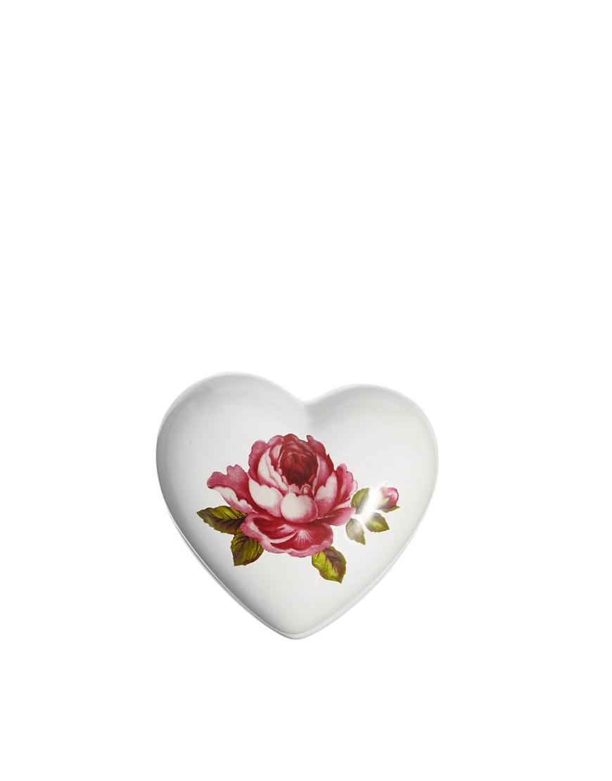 Heart Shaped Rose Jewellery Box - Multi