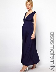 ASOS Maternity Grecian Maxi Dress With Wrap Front